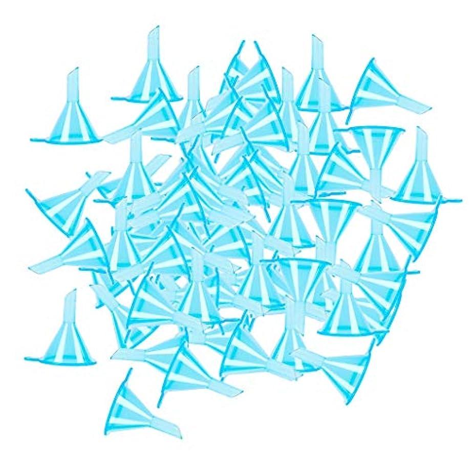 マート品種盲目gazechimp ファンネル 漏斗 エッセンシャルオイル 香水ボトルのため 全100点 3カラー選ぶ - ブルー