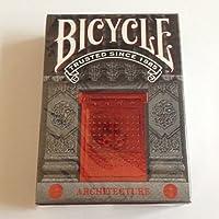 自転車アーキテクチャPlaying Cards Felt Vellum用紙TuckケースDeck Pokerマルチ