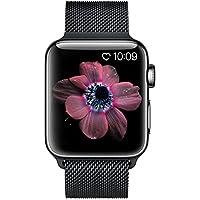 BRG コンパチブル apple watch バンド,ミラネーゼループ コンパチブルアップルウォッチバンド ステンレス留め金製 アップルウォッチ4 コンパチブル apple watch series4/3/2/1に対応(38mm/40mm,ブラック)
