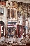 ヨーロッパの 素敵な コーヒーハウスへ ようこそ オシャレ シャワーカーテン 間仕切りにも