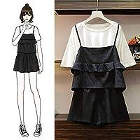 太った姉の老化痩身ドレス夏のドレスは太もも厚いオーシャンカバー腹スーツをなめるのに適しています XL ブラック