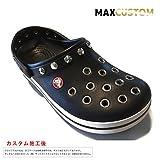 クロックス crocs パンク カスタム クロックバンド 黒 ブラック crocband (26)