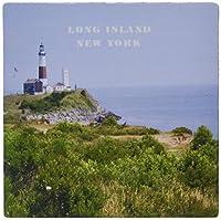 3drose LLC 8x 8x 0.25インチマウスパッド、Montauk Point Lighthouse on Long Island New York ( MP _ 80604_ 1) [並行輸入品]