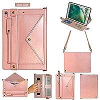iPad Air3 2019 ケース、iPad Pro 10.5 インチ 2017 ケース、封筒ポケット、 スタンド機能 、ポータブルケース 、 ローズゴールド