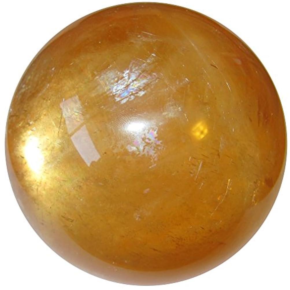 季節クスコ粗いCalciteオレンジボール3.4