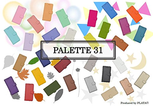 PLATA Xperia Z3 ケース 手帳型 SO-01G / SOL26 / 401SO  PALETTE31★ 31色 レザー ケース ポーチ 手帳 カバー プリントとは全くちがったソフトなさわり心地! エクスペリアZ3 【 001 ブラック 】 DSO01G-99BK