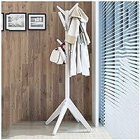 ハンガーラック 木製コートラックスタンド服ツリースタイリッシュ帽子コートラックジャケットフロアハンガー寝室リビングルームオフィスの出入り口 - /SUA ONG (色 : 白)