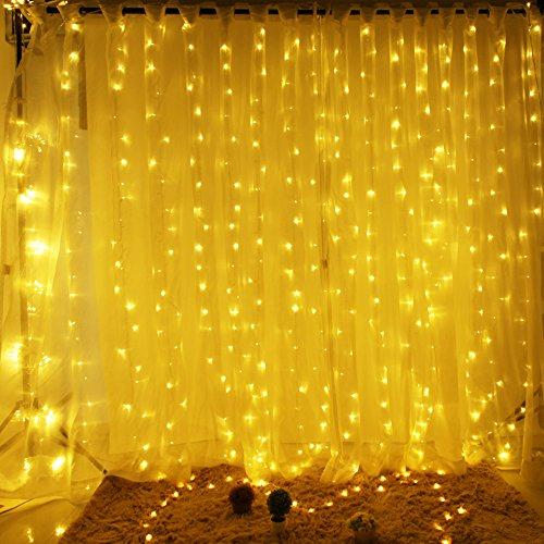 Valuetom(バリュートム)イルミネーション ライト 300球 LED 防滴形 8種類パターン 3m×3m 三色選択可能 (ウォ-ムホワイト)