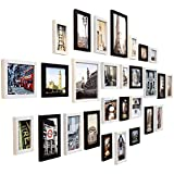 壁のための写真フレームの組み合わせ、Selfieギャラリーのコラージュ、壁の装飾の組み合わせ、28の壁のセットのためのフォトフレーム、マルチ写真のフォトフレームセット (色 : A)