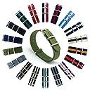 CIVO Natoストラップ Nato Strap 18mm 20mm 22mmプレミアムBallisticナイロン時計バンド Nylon Watch Band G10 時計ストラップ 簡単交換ベルト Watch Strap ステンレスバックル 取り替え工具付(一つのバネ棒外しと四つのサイズ近くのバネ棒を提供いたします) 交換マニュアル付 マルチカラー選択 (アーミー グリーン, 20mm)