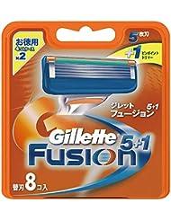ジレット フュージョン5+1 マニュアル 髭剃り 替刃 8コ入 × 20点