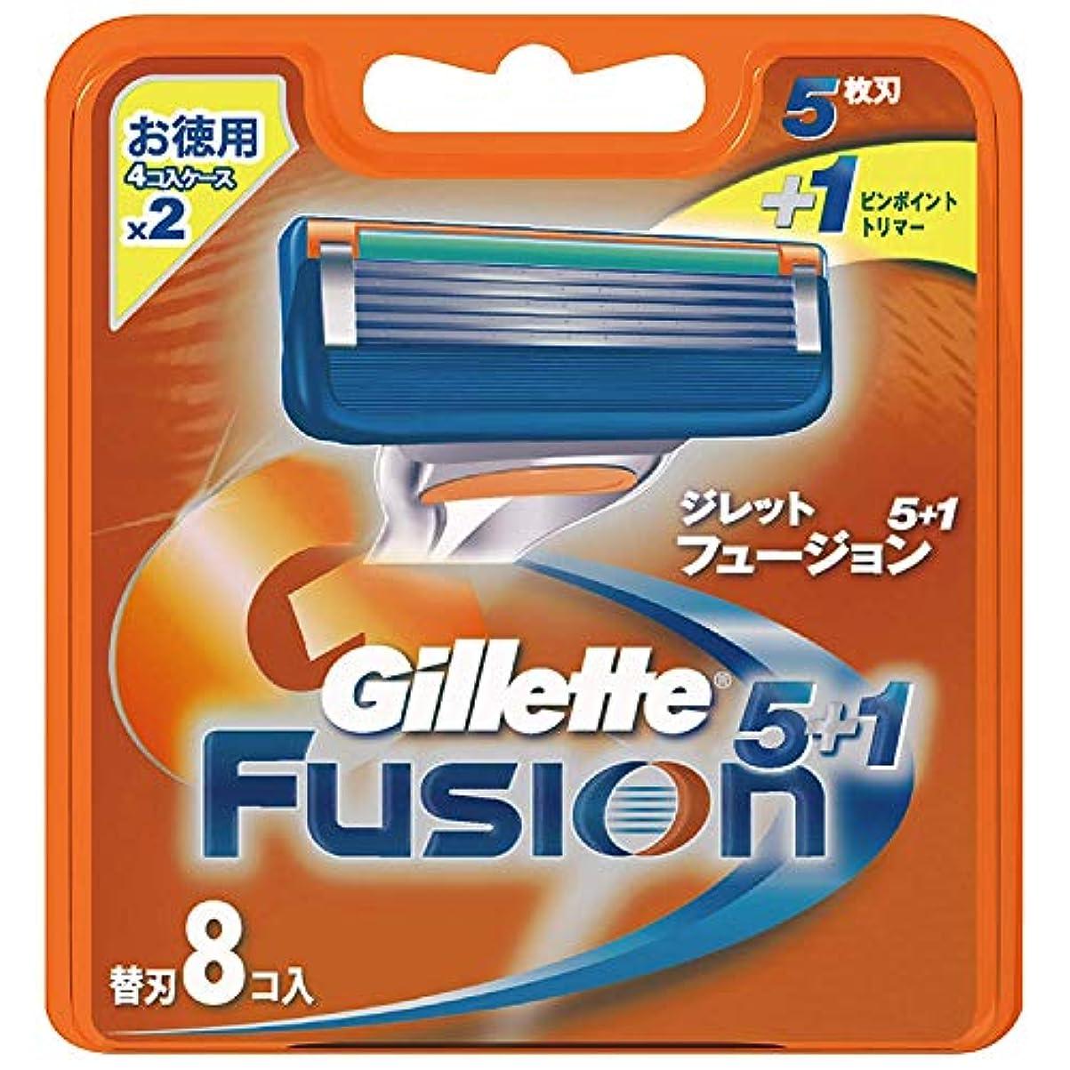 松明代わりに可動式ジレット フュージョン5+1 マニュアル 髭剃り 替刃 8コ入 × 20点