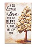 In Our Home Let Love Abide FallツリーGrateful Thoughts 11 x 17インチPlaque