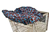 Wupzey Shopping Cart Cover, Blue Giraffe by Wupzey