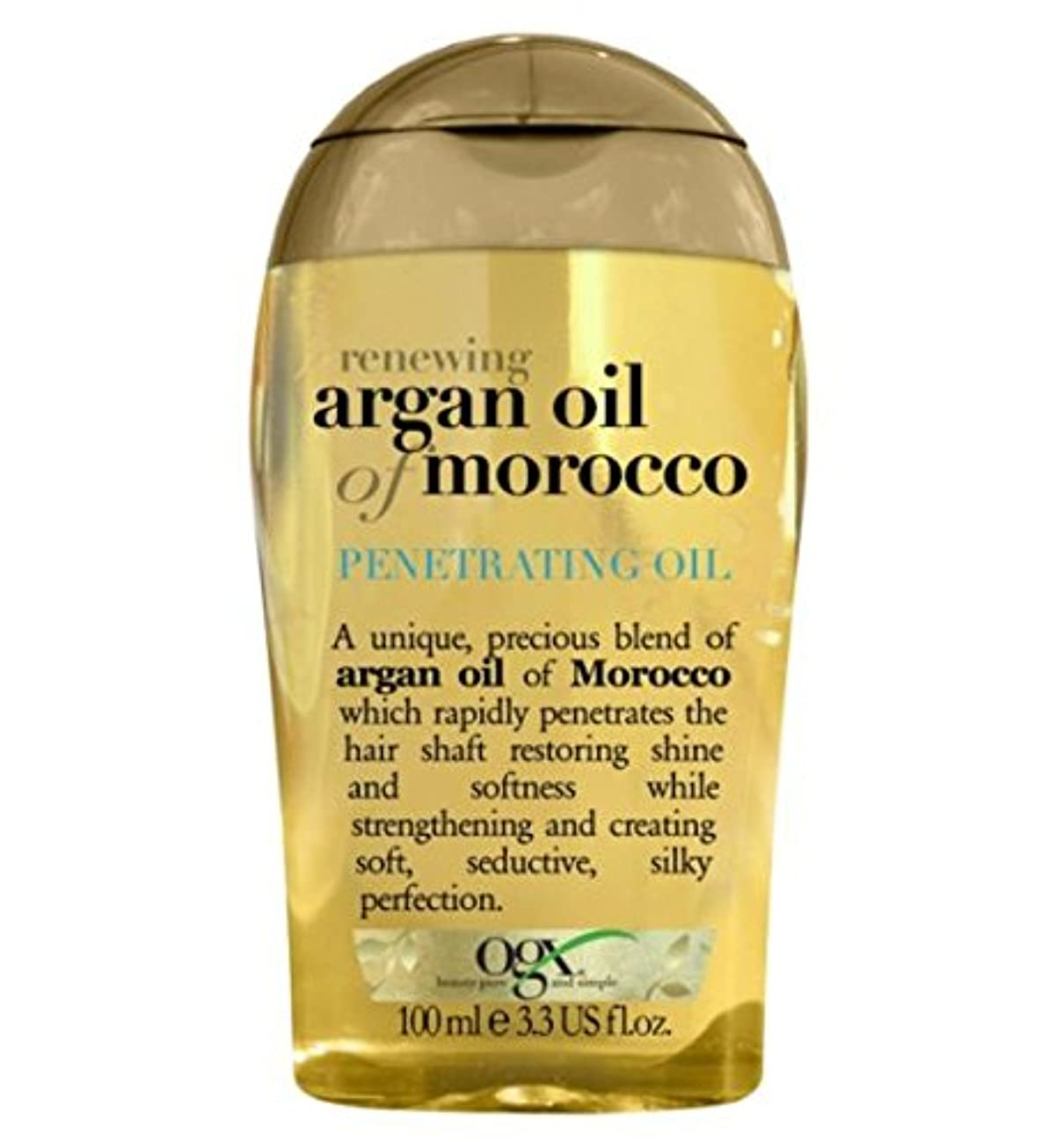 クランシー同封する失礼Organix Moroccan Argan Oil Penetrating Oil 100 ml (並行輸入品)
