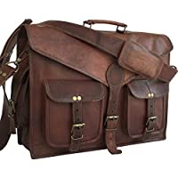 DHK 18 ABB HANDMADE VINTAGE LEATHER MESSENGER BAG FOR LAPTOP AND OTHER ACCESSORIES BRIEFCASE SATCHEL BAG