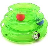 【Lucky Style】 猫 遊び おもちゃ ボール 鈴 入り 鈴音 運動不足 ストレス 解消 ペット用品 グリーン