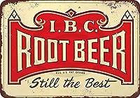 Joeaney ブリキの看板 アルミニウム製 レトロ IBC ルートビール Still The Best ヴィンテージ メタルサイン 8 x 12インチ 8 X 12 Inch u8fdsf642