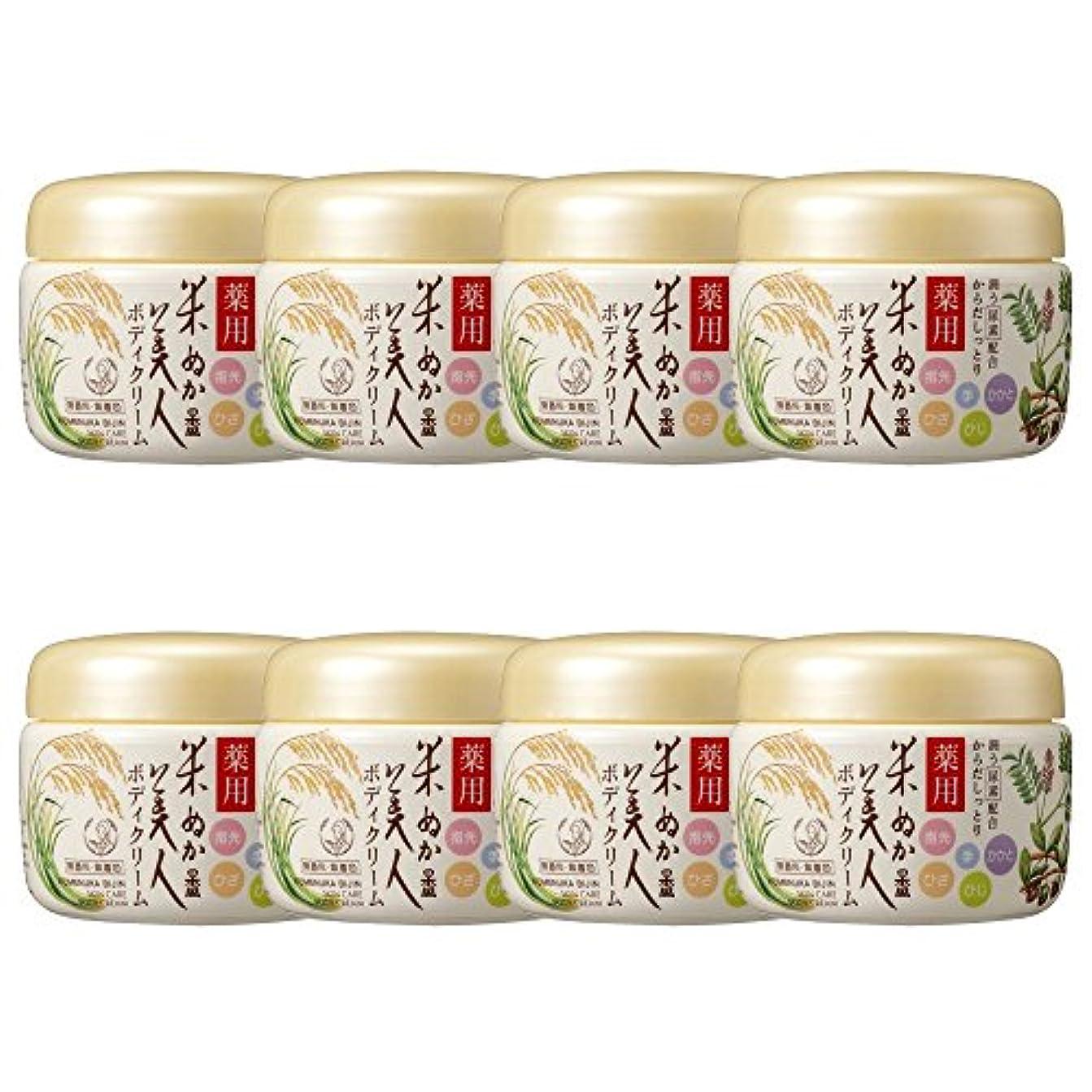 こねるあごひげスリップシューズ【セット】米ぬか美人 薬用ボディクリーム 140g ×8個