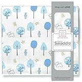 SwaddleDesignsモスリンSwaddle Blanket、青い森