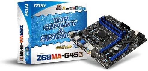 MSI LGA1155 Intel Z68チップ搭載Micro-ATXマザーボード Z68MA-G45(G3)