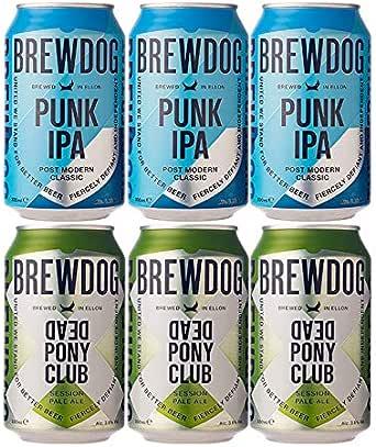 [お試し各3本 2種6本飲み比べセット]<br>[スコットランド ブリュードッグ] デッドポニークラブ 3本&パンク IPA 330ml 3本 <br>[BREWDOG DEAD PONY CLUB 330ml 3本 &PUNK IPA 330ml 3本]