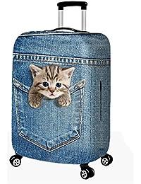 302714e0fd CXYP スーツケースカバー 伸縮素材 かわいい 猫 萌ちゃん ウサギ トランクカバー 伸縮 キャリーカバー