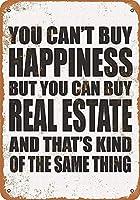 Can Buy Real Estate 金属スズヴィンテージ安全標識警告サインディスプレイボードスズサインポスター看板建設現場通りの学校のバーに適した