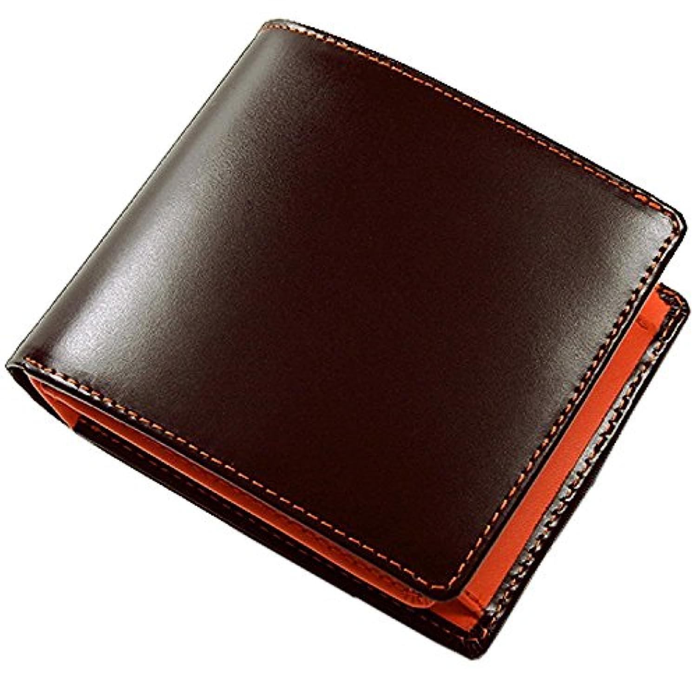 完璧逃げる極めてMaturi マトゥーリ エグゼクティブ コードバン 二つ折財布 茶×OR MR-009