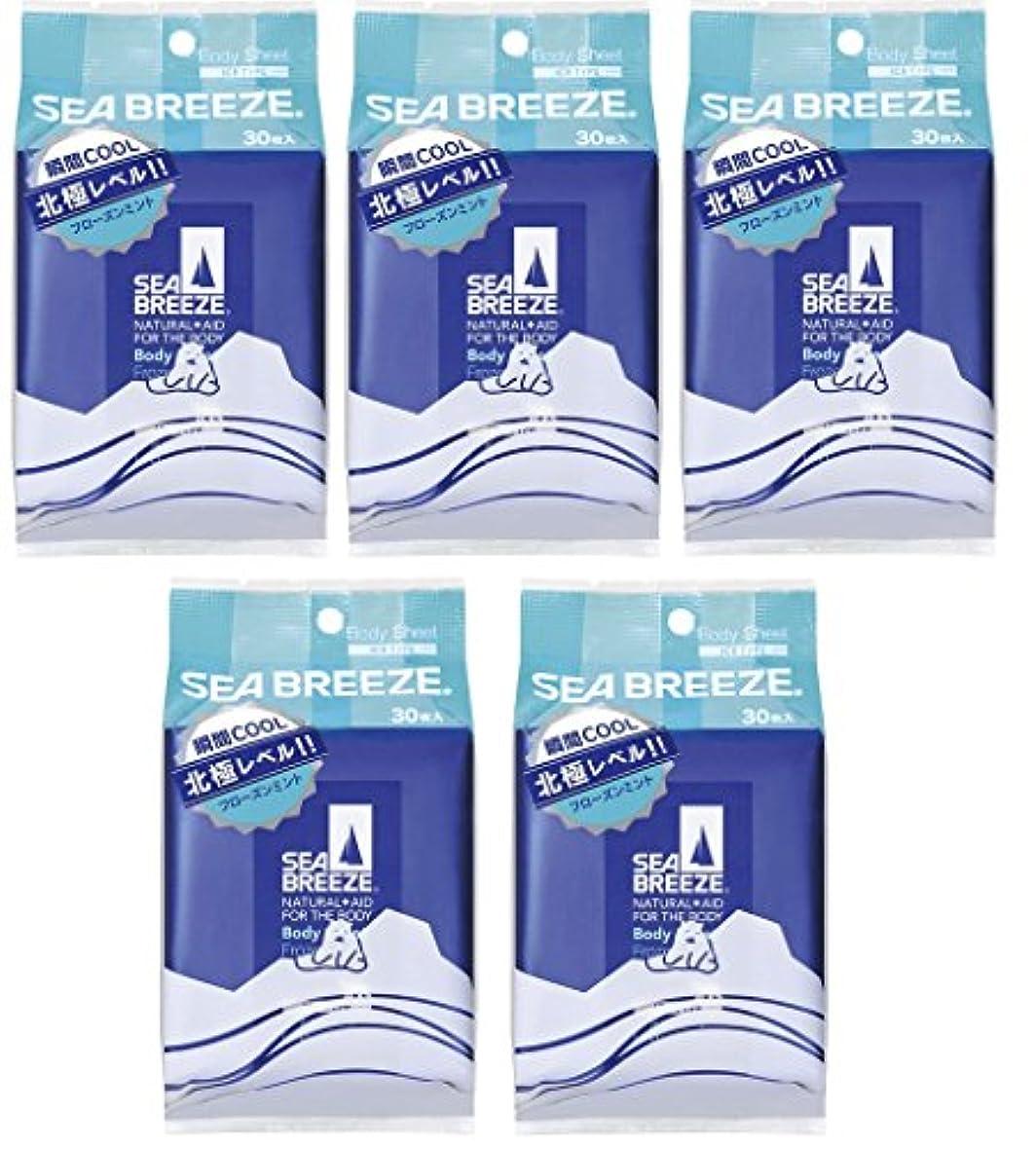 ほのめかす些細突然の【5個セット】シーブリーズ アイスタイプ ボディシート フローズンミント 30枚×5