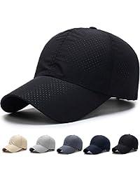 キャップ 帽子,WOOSOO 夏 秋 メッシュキャップ 通気性抜群 日除け UVカット 紫外線対策 男女兼用 登山 釣り ゴルフ 運転 アウトドアなどに 無地 全7色