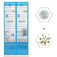 対策-蚊を! ミュート 磁気スクリーン ドア,フック&ループ 磁気ウィンドウ画面,夏 換気 虫を寄せ付けない 粘着 フック&ループ と-M 100x200cm(39x79inch)