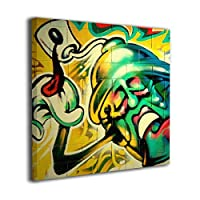 Zetena Graffiti Cool Hip Hop Art Bad Ass キャンバス絵画 アートパネル キャンバス 絵画 モダンフレーム装飾画 壁飾り 壁ポスター おしゃれ インテリア