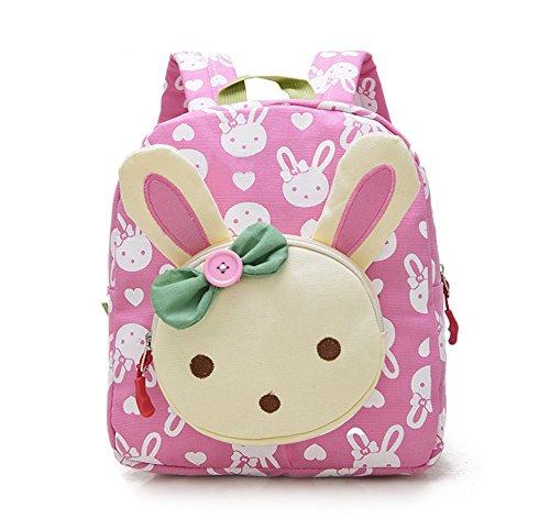 skyflyingsウサギの動物の子供のバックパック赤ちゃんの女の子の学校の本のバッグデイリーバッグ