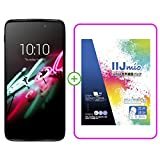 alcatel IDOL 3(5.5) smartphone in Metallic Silver SIMフリー スマートフォン ( IIJmio SIM 音声通話パック IM-B043 バンドル版 ) -B043 6045F-2CALJP7+IM