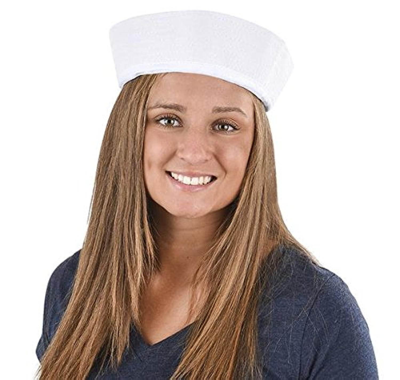 Largeホワイトセーラー帽子、ケースof 288