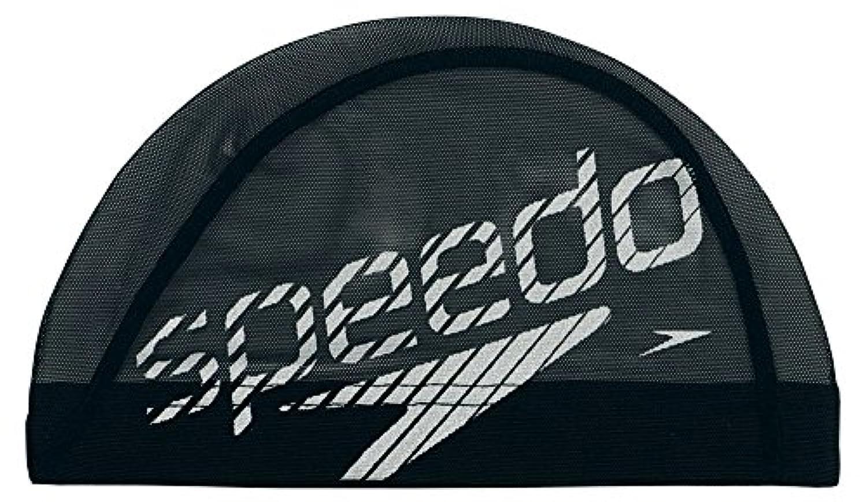 Speedo(スピード) スイムキャップ メッシュ SD92C11 ブラック×シルバー M