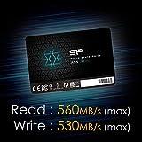 【セット買い】シリコンパワー SSD 2TB 3D NAND採用 SATA3 6Gb/s 2.5インチ 7mm PS4 動作確認済 3年保証 A55シリーズ SP002TBSS3A55S25 & アイネックス 2.5インチSSD/HDD変換マウンタ HDM-42 画像