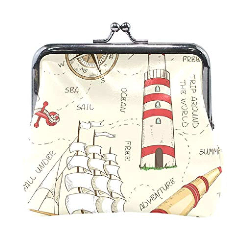 AOMOKI 財布 小銭入れ ガマ口 コインケース レディース メンズ レザー 丸形 おしゃれ プレゼント ギフト オリジナル 小物ケース イギリス風 復古 海