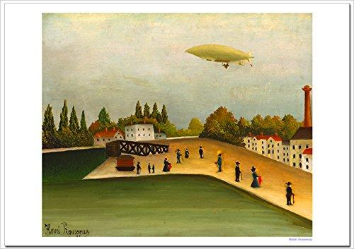 世界の名画 ルソー イヴリー河岸 ジークレー技法 高級ポスター (B3/364ミリ×515ミリ)