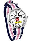 ディズニー ミッキーマウス ウォッチ ベルト ピンク 付け替え可能 ディズニー 腕時計 メンズ レディース キッズ WATCH Disney ミッキー 手が回る 時計 NATO ナトー ディズニー 腕