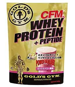 GOLD'S GYM(ゴールドジム) CFMホエイプロテイン+ホエイペプチド&ビタミンB群 (ミックスベリー, 900g)