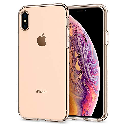 【Spigen】 スマホケース iPhone XS ケース/iPhone X ケース TPU 全面クリア 超薄型 超軽量 リキッド・クリ...