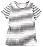 アビックス アルゴヴィア マタニティ授乳口付きシンプル半袖Tシャツ M オフ×グレー ベア天竺 366328