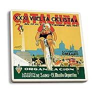 自転車レーシングプロモーションヴィンテージポスター 4 Coaster Set LANT-41252-CT