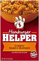 Hamburger Helper Cheesy Ranch Burger, 5 Servings, 5.9-Ounce Boxes (Pack of 12) by Hamburger Helper
