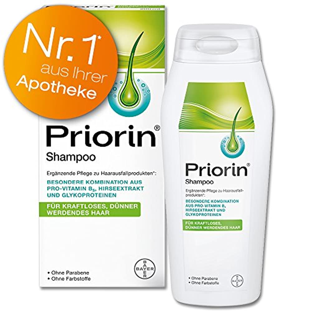 デジタル居心地の良い好意的Priorin Anti Hair Loss Revitalising Shampoo - with Natural Herbal Millet Extract & Provitamin B5 - 200 ml by Priorin