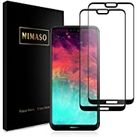 【2枚セット】Nimaso HUAWEI P20 lite 用 強化ガラス液晶保護フィルム【全面保護】【貼り付け簡単】3D Touch対応/業界最高硬度9H/防爆裂