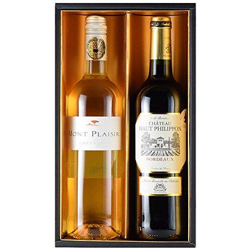 お歳暮 コンクール金賞受賞のフランス赤白ワインギフト 女性向け 750mlx2本