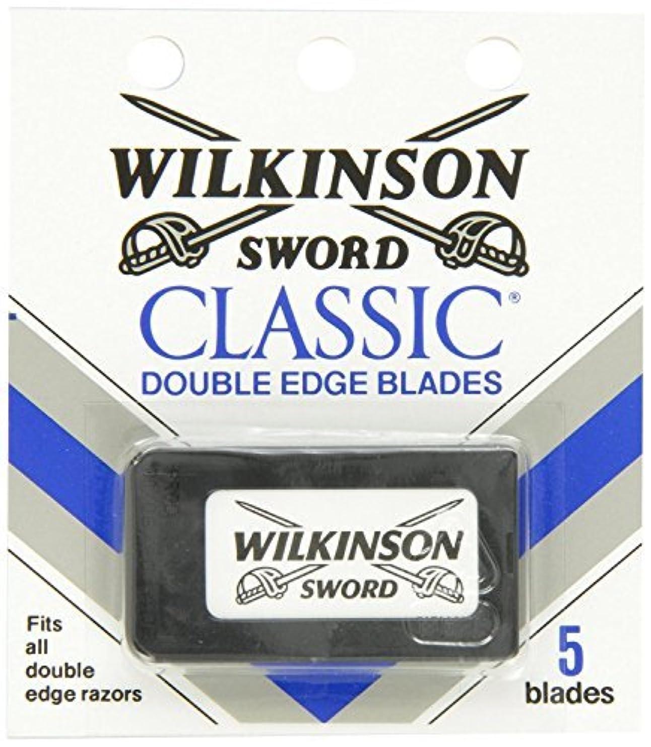 定刻文化嘆願ウィルキンソン ソード (Wilkinson Sword) ドイツ製 両刃替刃 5枚 [並行輸入品]